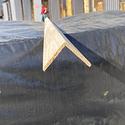 Уголок деревянный гладкий  60x60х3м