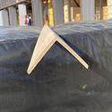 Уголок деревянный гладкий  70x70х3м